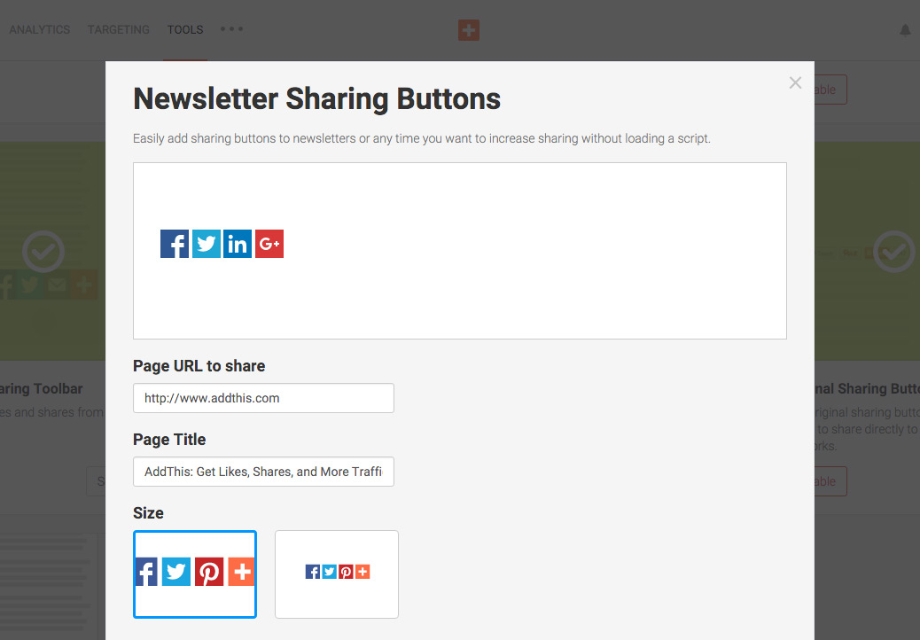 Newsletter Sharing Buttons