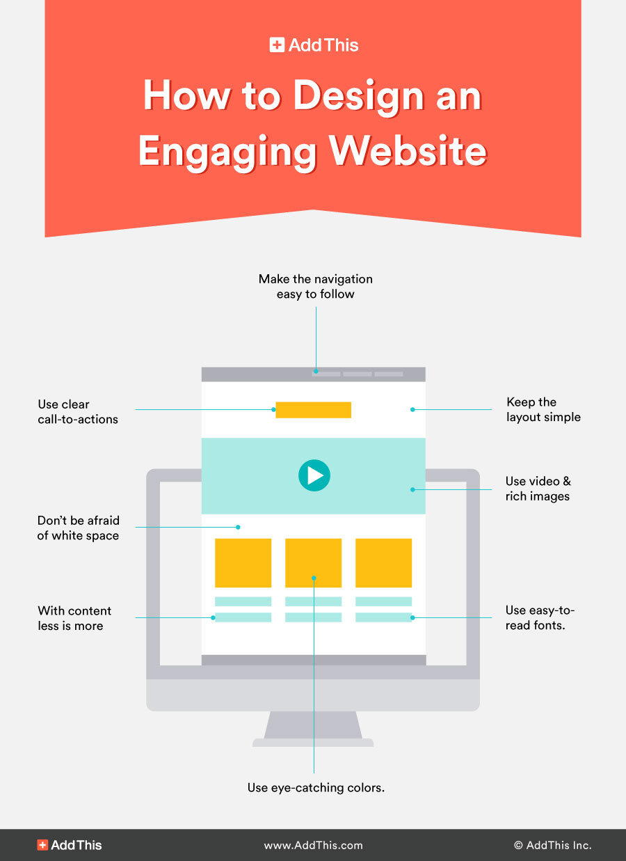 how to create an engaging website design - addthis
