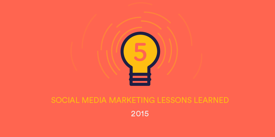 social media marketing lessons 2015