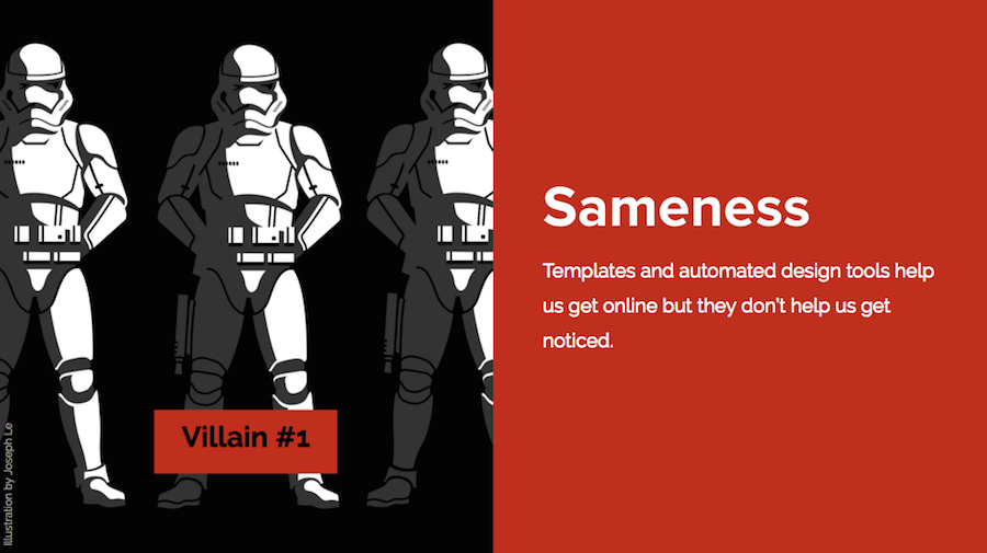 web design sameness