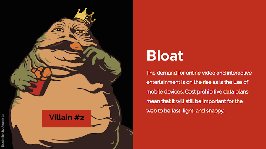 web design bloat
