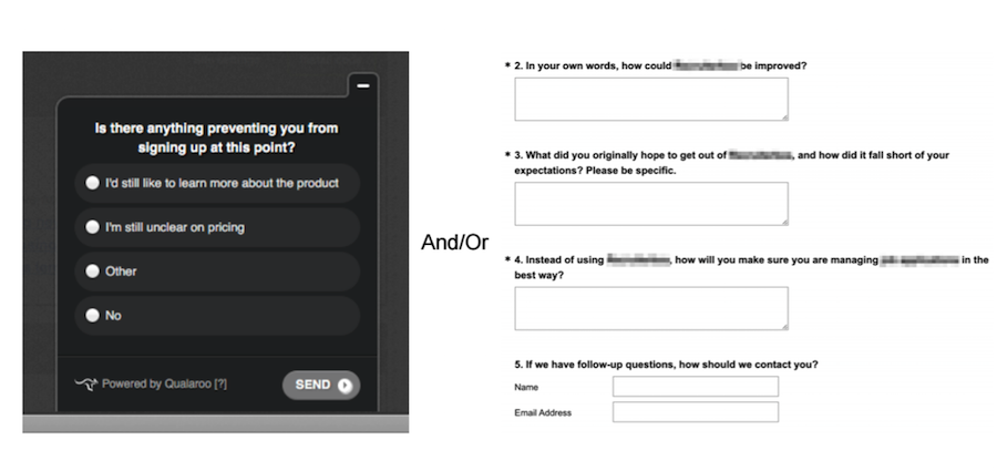 user survey example