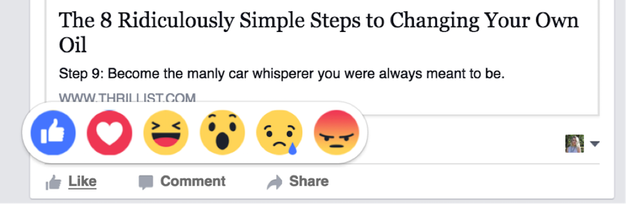 facebook reactions examples