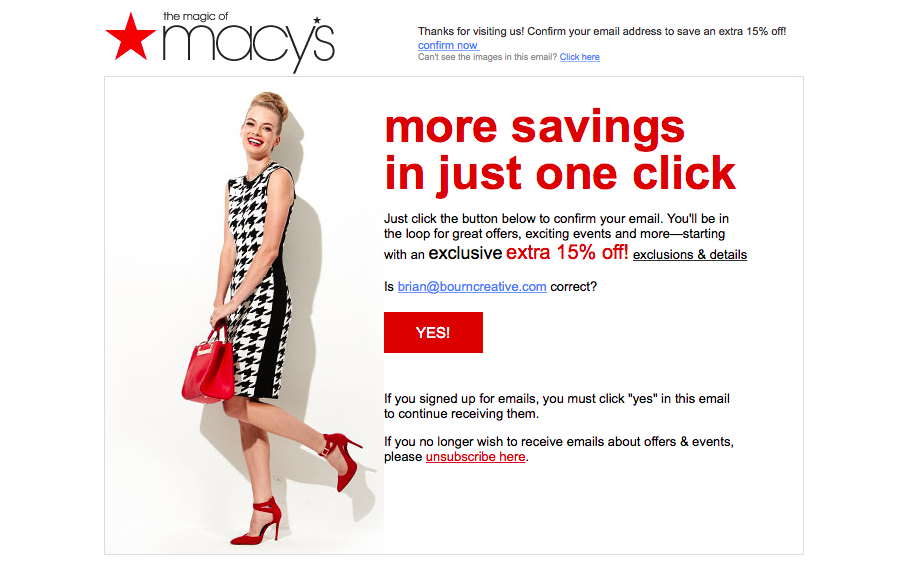 macys email campaign