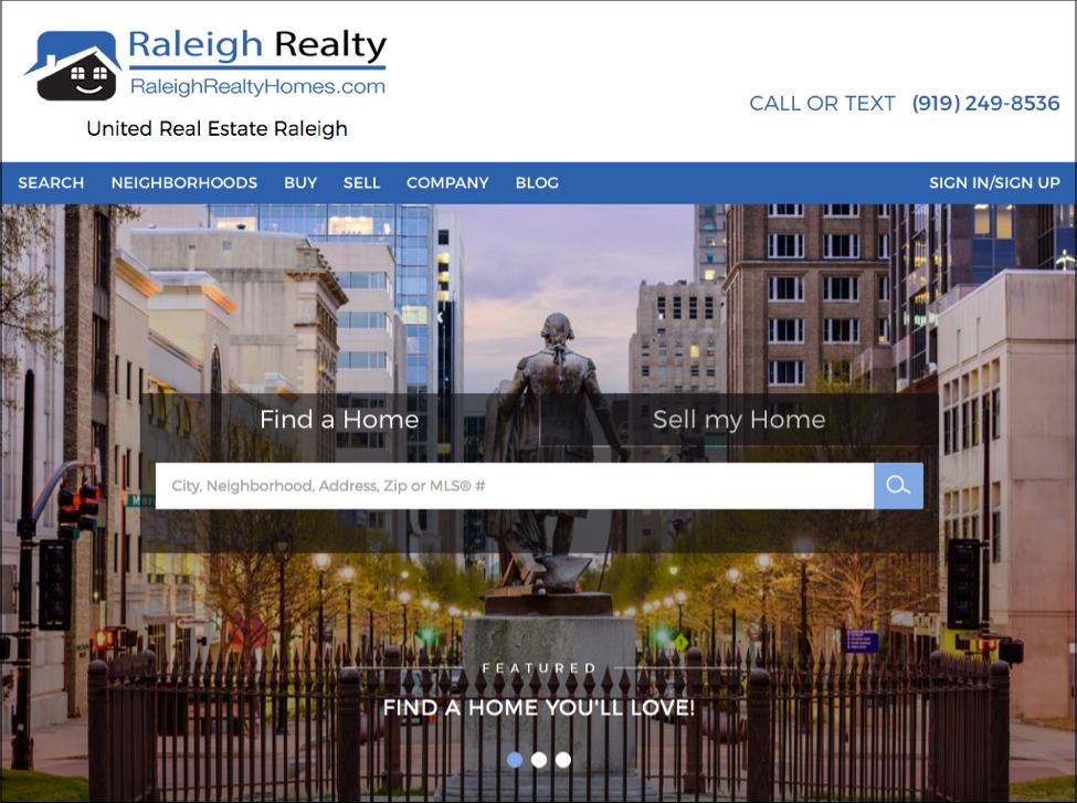 raleigh realty listings homepage