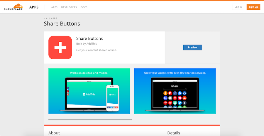 addthis cloudflare app store