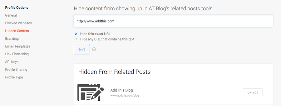How To Hide Pages On Related Posts Tools Addthis