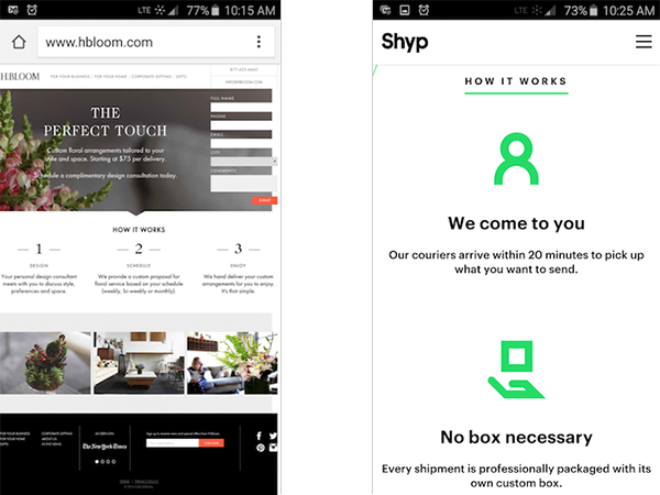 mobile-landing-page-examples