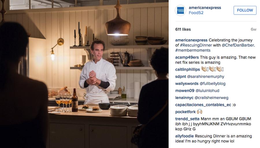 American Express Instagram post