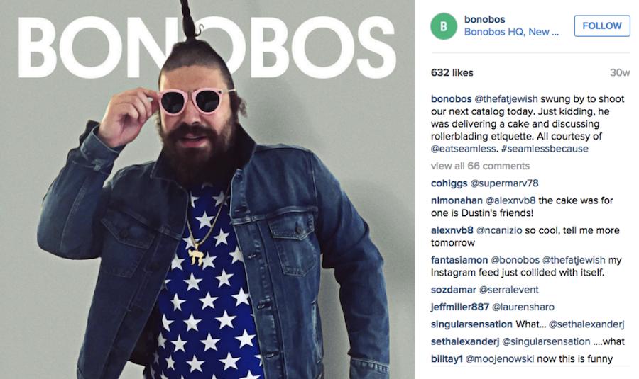 Bonobos Instagram post