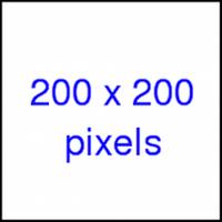 200 x 200 pixels