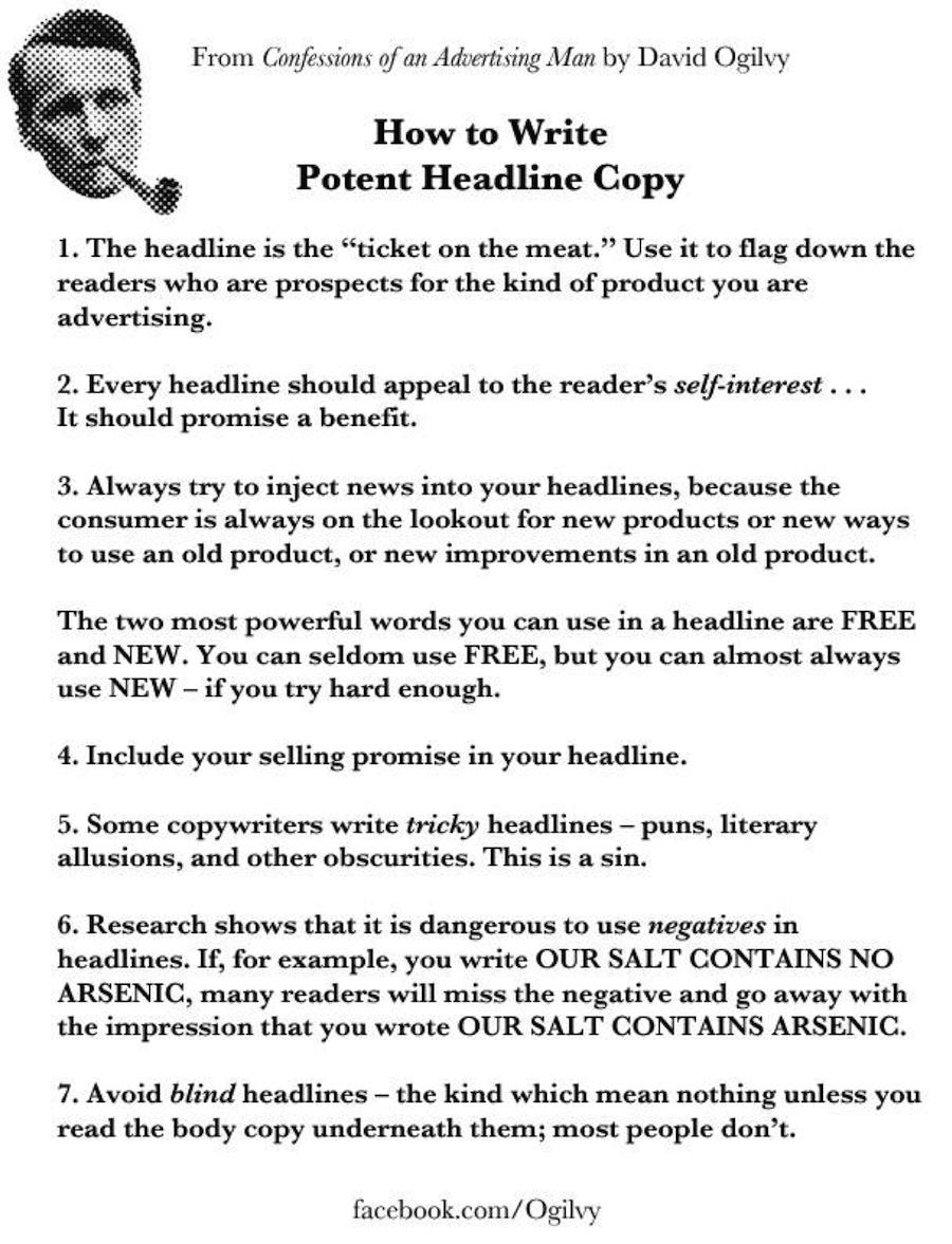 David Ogilvy writing tips