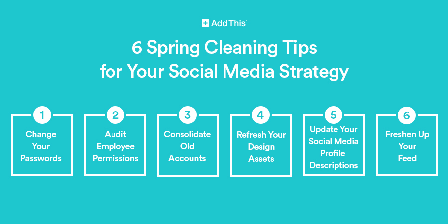 6 Spring Cleaning Tips For Your Social Media Strategy Addthis