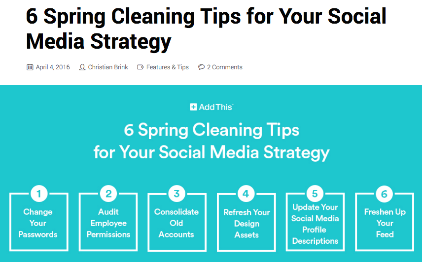 social media spring cleaning tips