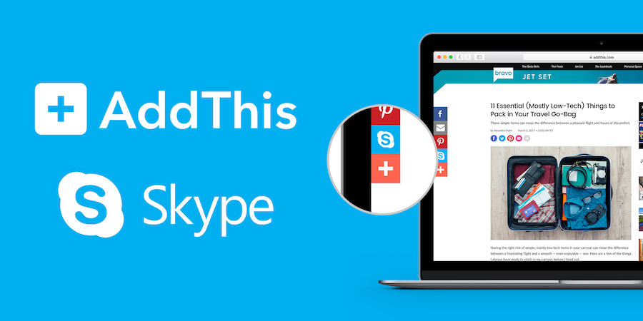 skype share button