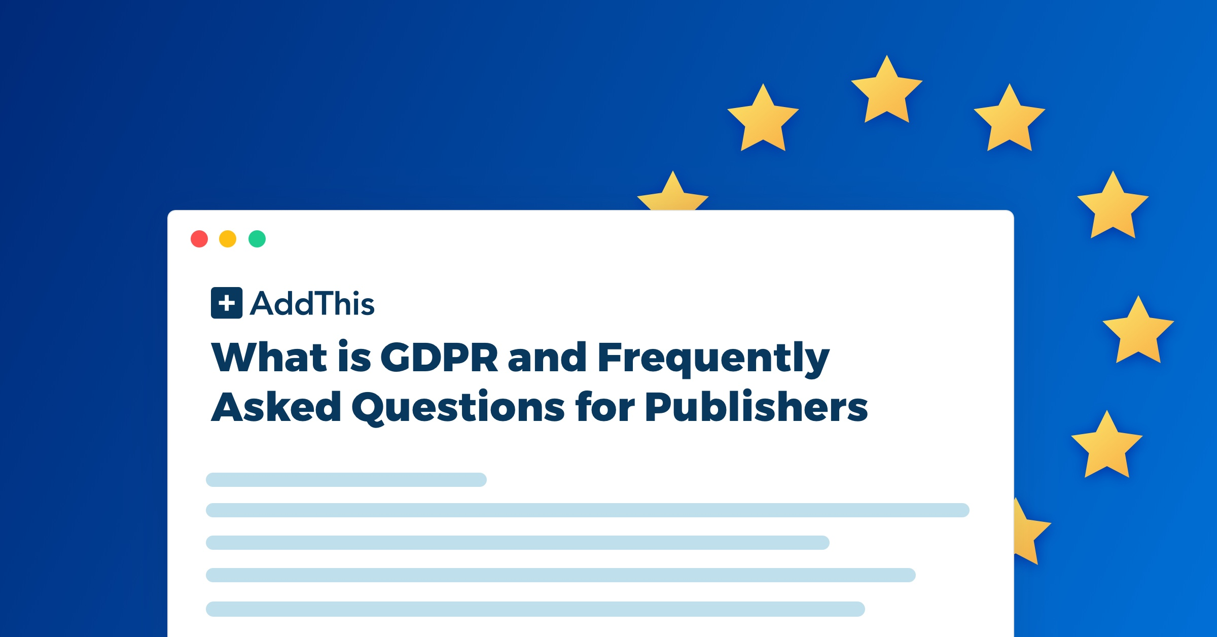 Gdpr And Frequently Asked Questions For Publishers Addthis Data Security Policy Statement Q What Is The Definition Of Personal