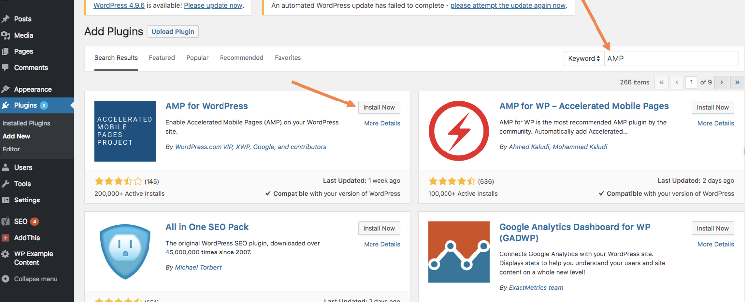 AMP WordPress Plugins