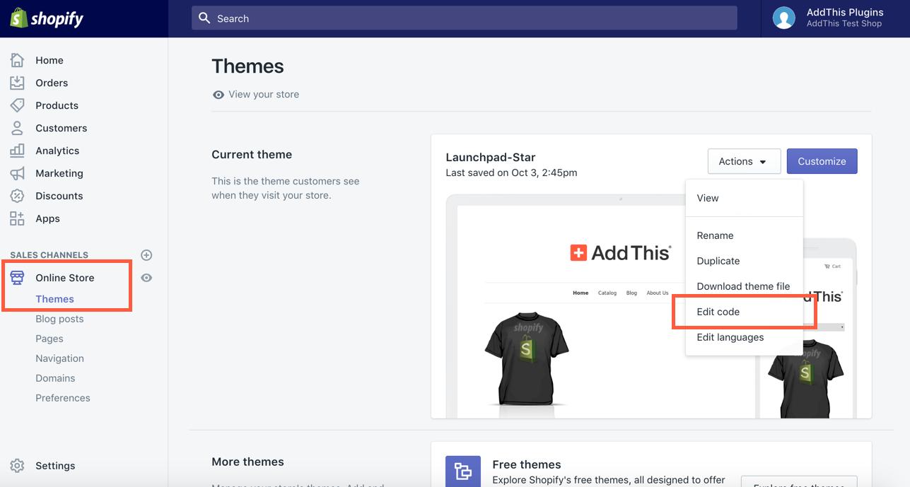 Edit Shopify HTML