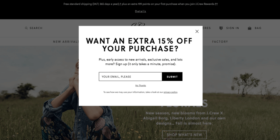 jcrew-exit-intent-popup