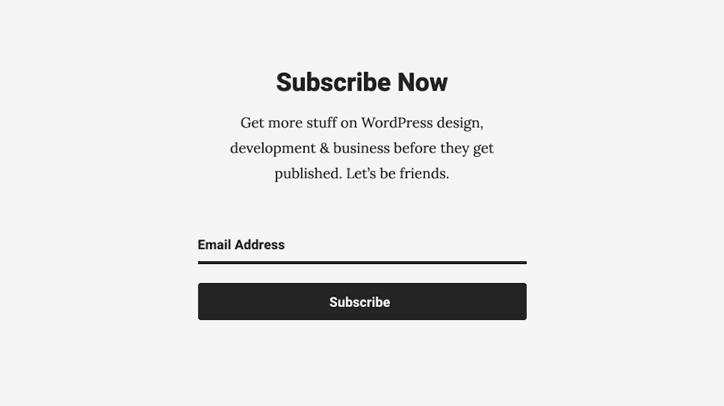 subscribe form email marketing
