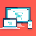 Image of ecommerce shopping cart on multiple devices