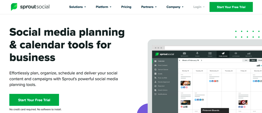 SproutSocial Ecommerce Landing Page