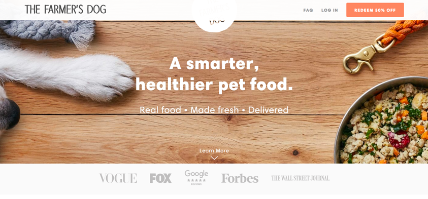 The Farmer's Dog Ecommerce Landing Page