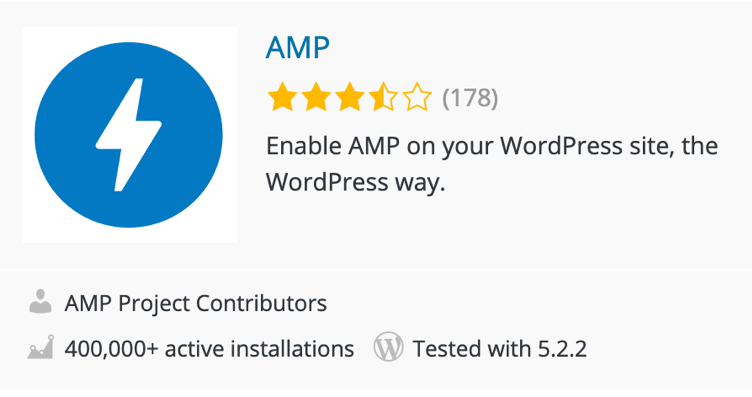 Screenshot of AMP Plugin for WordPress.