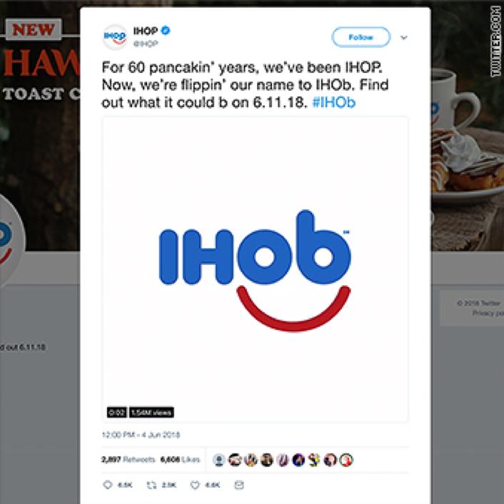 Image of IHOb prank tweet.
